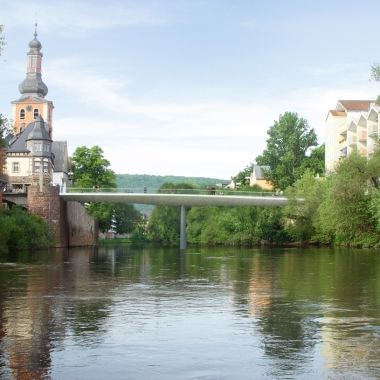 Bad Kreuznach Bridge - View from the river